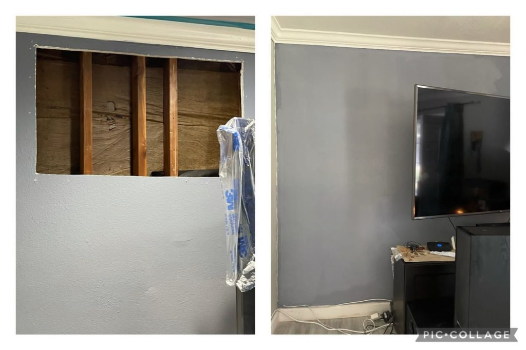 Homepage - Before and After service drywall